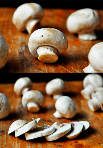 Button Mushrooms Sliced