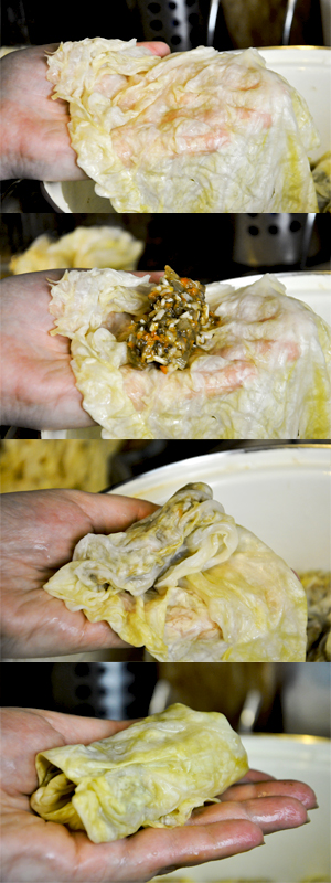 How to make dolmas or cabbage rolls
