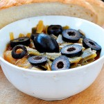 Leek and Black Olives Stew with Bread | Mancare de praz