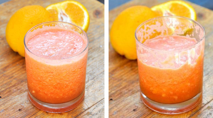 Summer Smoothie with Watermelon and Oranges
