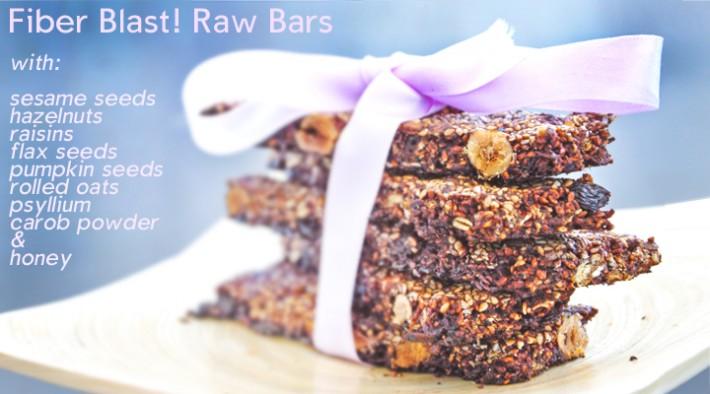 Batoane raw vegane cu seminte si nuci | Fiber Blast! Raw Bars