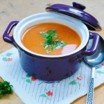 Roasted Tomato Soup with Crunchy Sweet Corn | Supa acra de rosii cu porumb