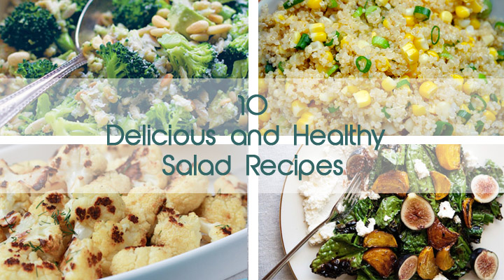 10 Delicious and Healthy Veggie Salads Gourmandelle | 10 retete delicioase vegetariene de salate