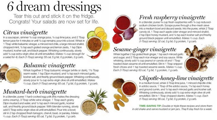 6 dream dressings for salads