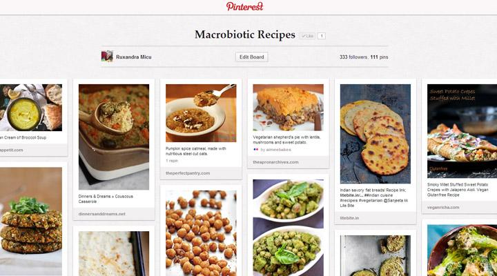 Macrobiotic recipes Pinterest Board Gourmandelle
