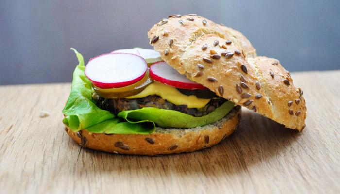 "Vegetarian ""Beef"" Burger  Adzuki Beans Veggie Burger"