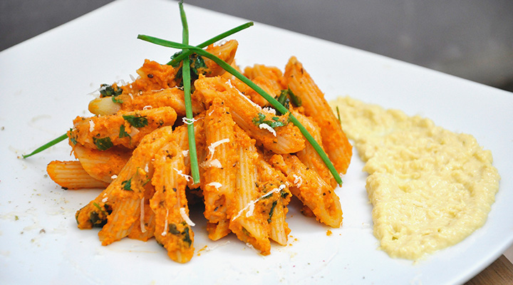 Spicy Penne Pasta In Tomato Carrot Sauce Recipe by Archana's Kitchen ...