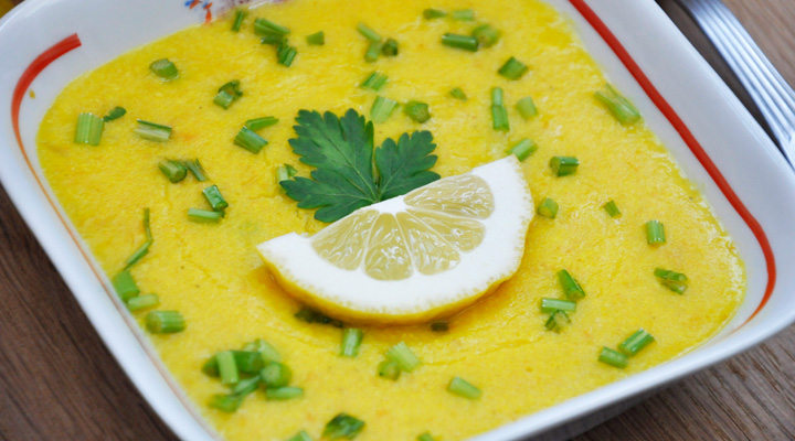 Lemony Creamy Millet Soup with Turmeric | Supa cremoasa de mei cu turmeric