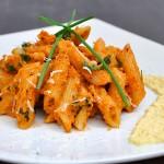 Penne with Creamy Carrot Sauce Pasta Recipe | Paste penne cu murcovi si sos de pastarnac si mustar