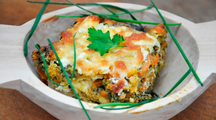 Lentils and Veggies Gratin