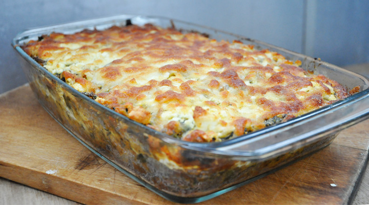 Lentils and Veggies Gratin  Casserole