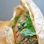 Painea padurarului umpluta cu branza telemea si verdeturi Hunters bread stuffed with cheese and herbs recipe