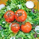 Salata de vara cu rosii coapte Summer Fresh veggies salad