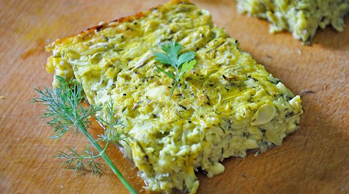 Budinca de dovlecei cu branza Zucchini and cheese casserole recipe