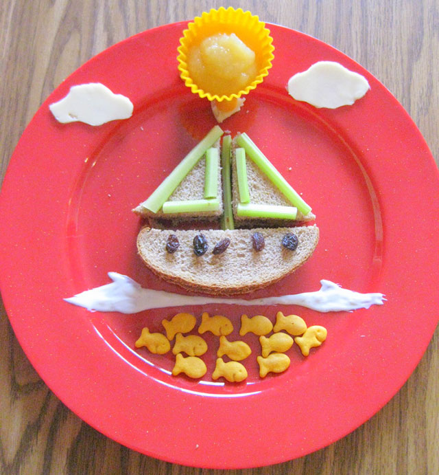 fun foods for kids boat sandwich