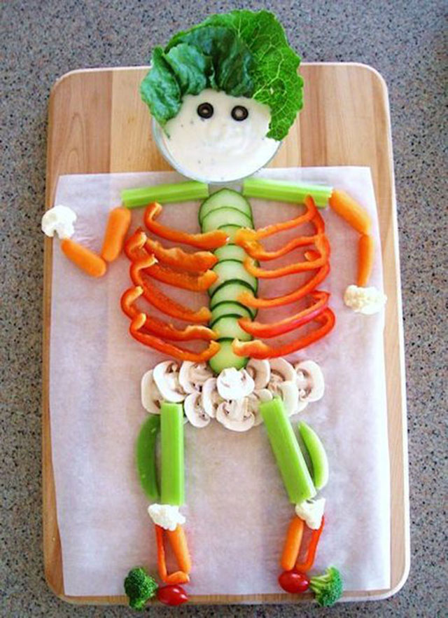 foods for kids creepy skeleton halloween