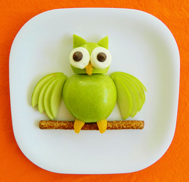 fun foods for kids owl apple snack