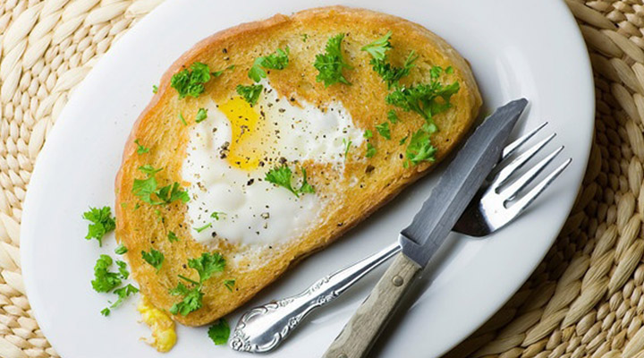Healthy Egg Recipes for Breakfast - Fancy Egg in a Hole