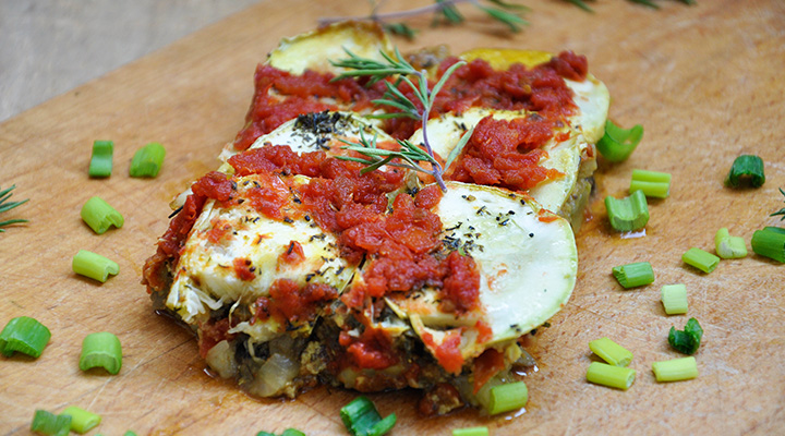 Musaca vegetariana de dovlecei Vegetarian Zucchini Moussaka
