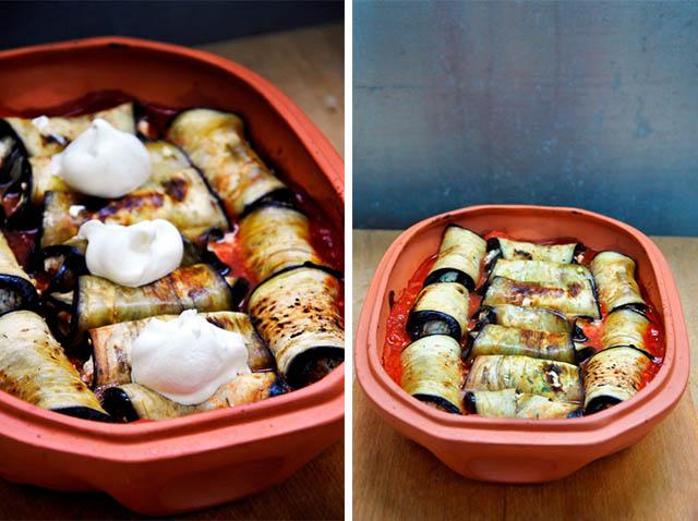 Ricotta Stuffed Eggplant Rolls vegetarian