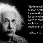 Vegetarian quote Einstein