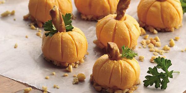 Cheese Pumpkin  Vegetarian Halloween Recipess