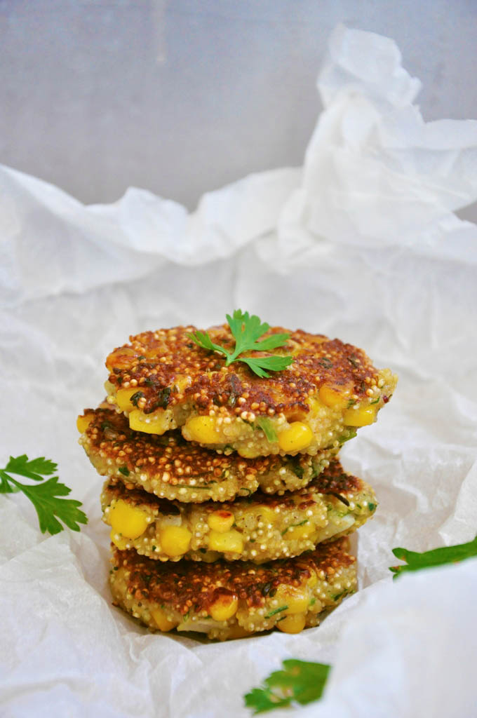 Quinoa Patties with Sweet Corn recipe