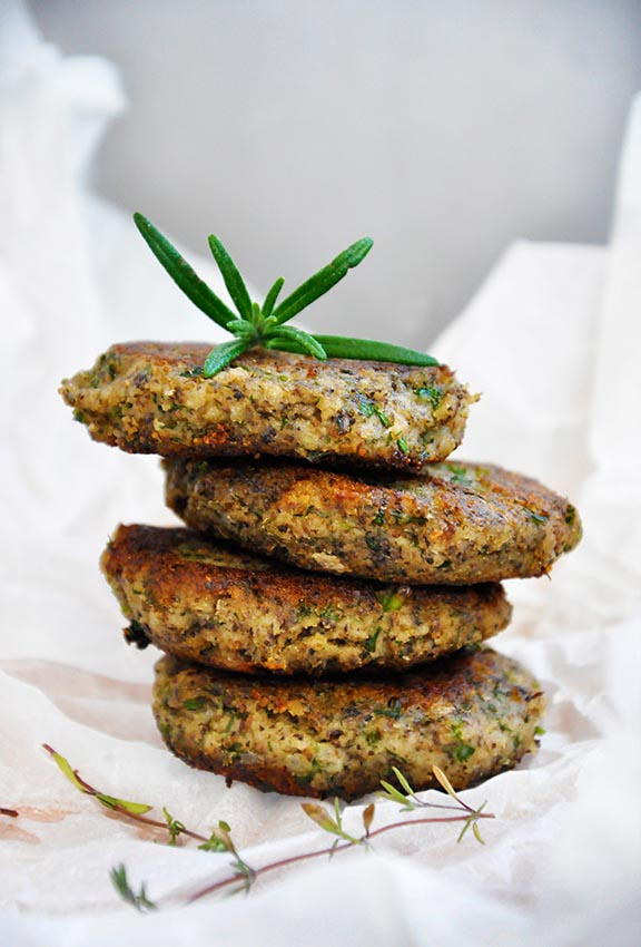 mushroom patties with Herbs burger