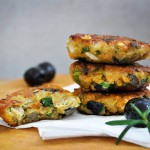 Chiftelute de linte cu masline si verdeturi Lentil Patties with Olives and Herbs bite