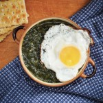 Piure de spanac cu orez Spinach puree with rice recipe vegetarian vegan egg