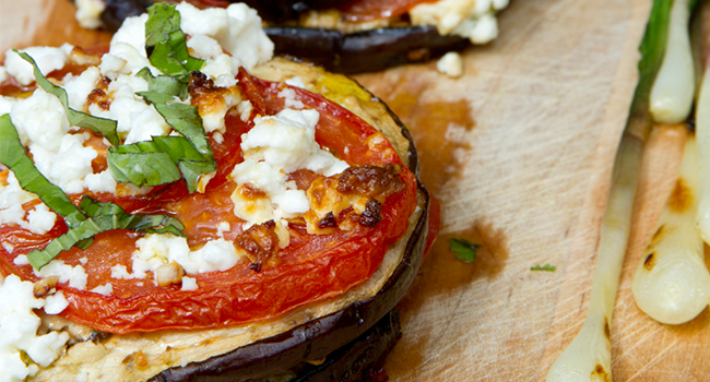 Grilled Eggplant Recipe Vegetarian Valentine's Day Dinner