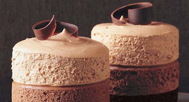 Triple-Chocolate Mousse Cake Vegetarian Valentine's Day Dinner Recipes