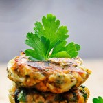Chiftelute de vinete si linte cu masline si verdeturi Lentils and Eggplant Patties with Olives and Herbs vegan