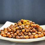 Spicy Oven-Roasted Chickpeas Snack Naut picant prajit la cuptor Vegan
