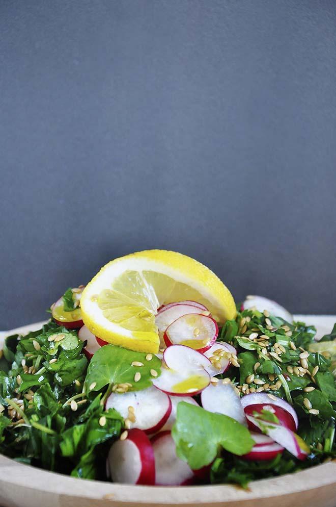 Spring Detox Salad leafy greens