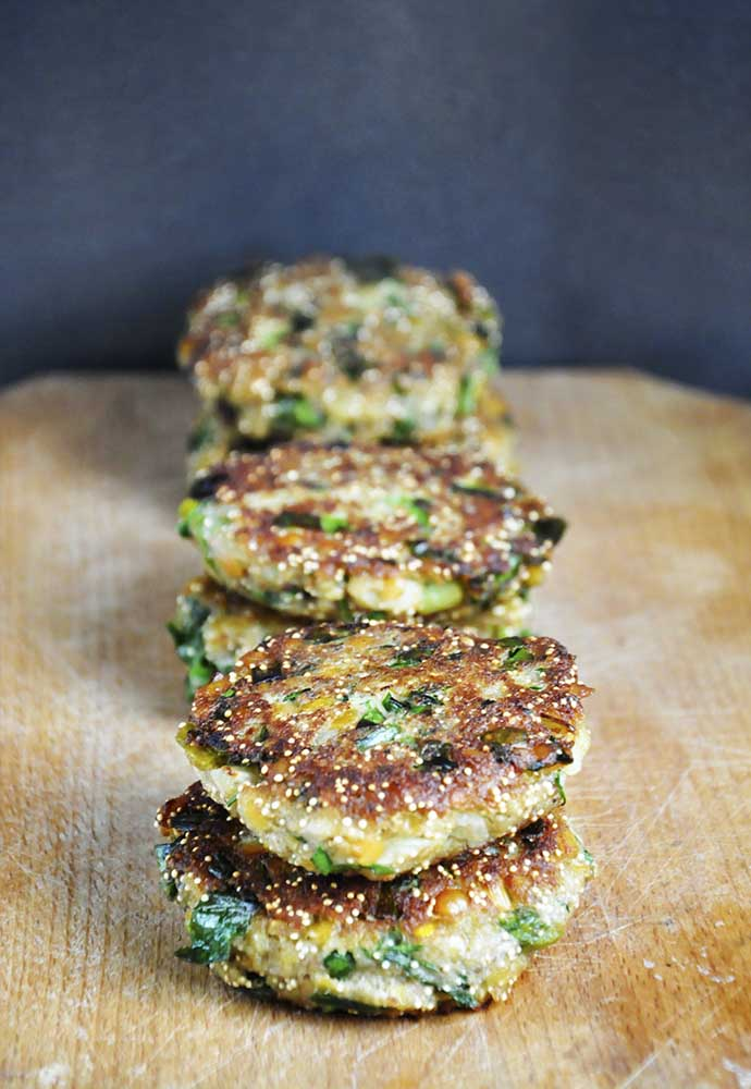 Protein-Rich Lentil Amaranth Patties