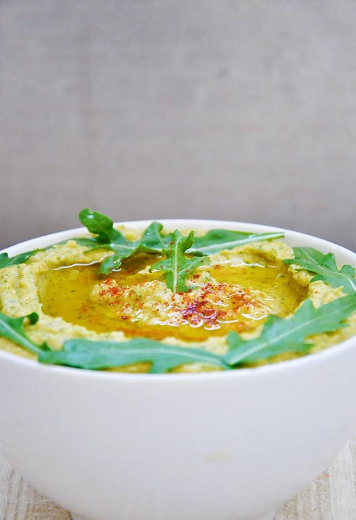 Arugula Hummus cu rucola reteta