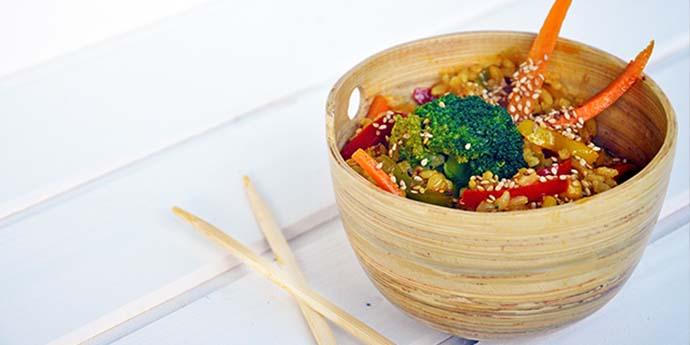 Macrobiotic Stir Fry Veggies Rice recipe