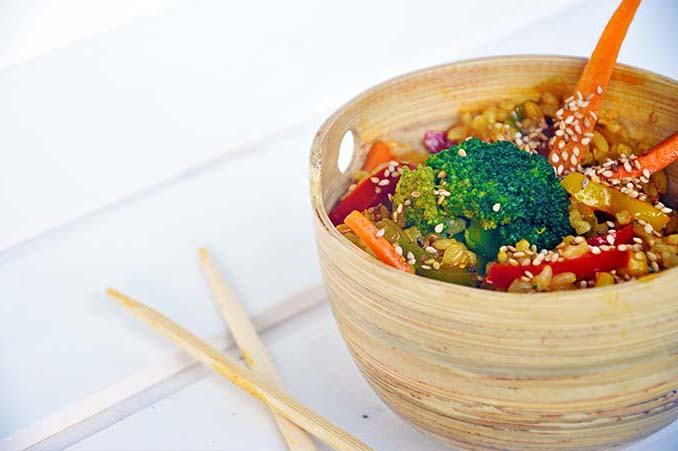 Macrobiotic Stir Fry Veggies Rice reteta