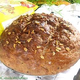 0 paine rustica fara gluten cu seminte