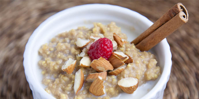 CREAMY MILLET PUDDING macrobiotic breakfast recipes