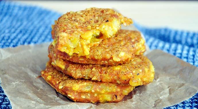 Cheesy Yellow Split Pea Patties with Tofu Chiftelute de mazare galbena cu tofu vegan recipe