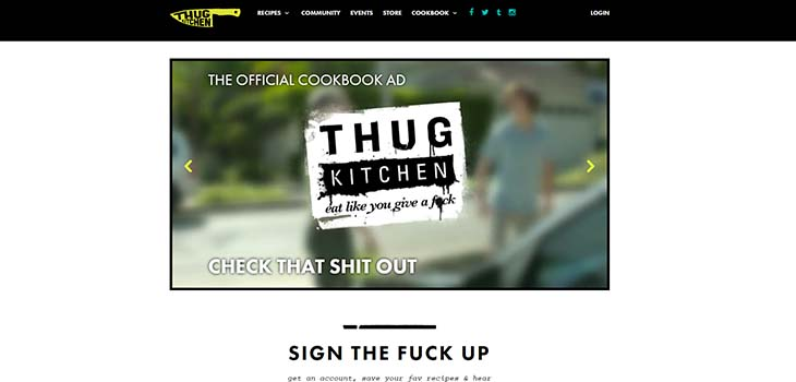thug kitchen food blog