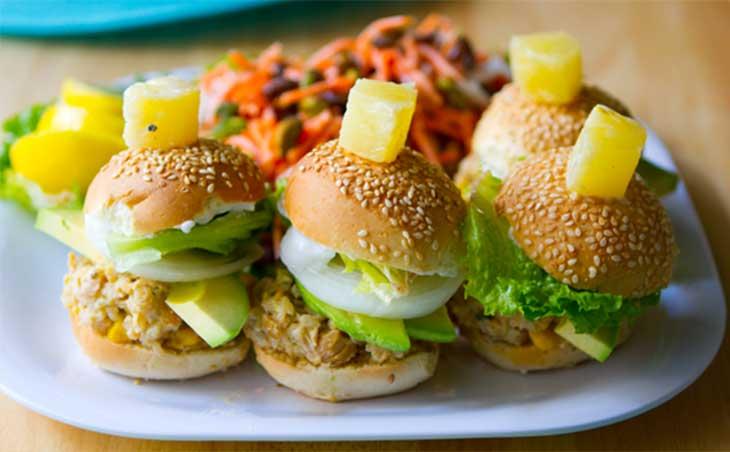 California-Veggie-Burger-Sliders
