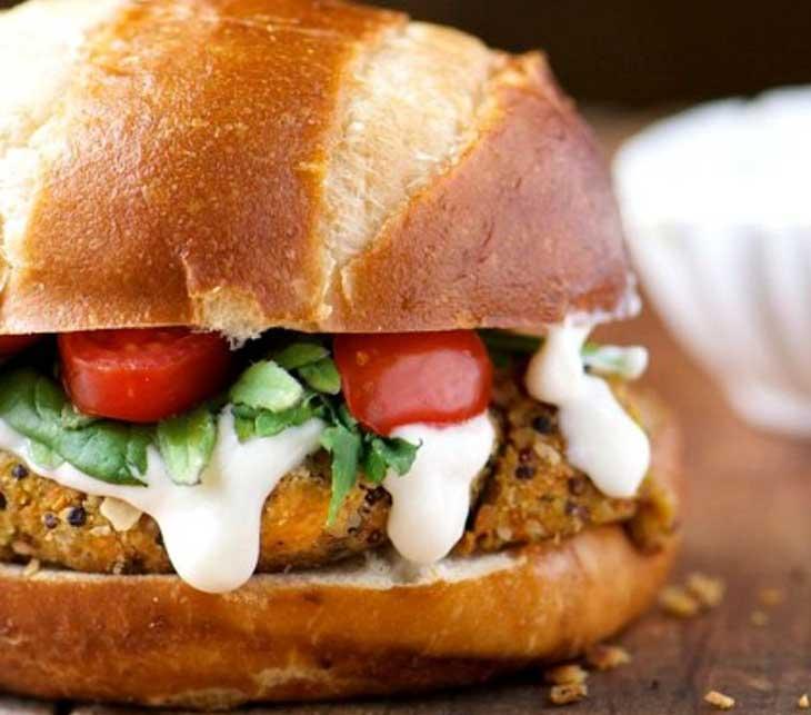 vegan-quinoa-burgers vegan dinner recipes