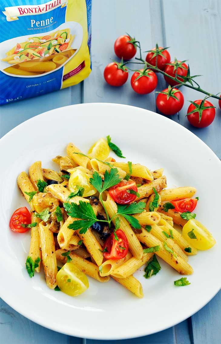 vegan eggplant pasta-gluten-free-Paste-fara-gluten-cu-vinete
