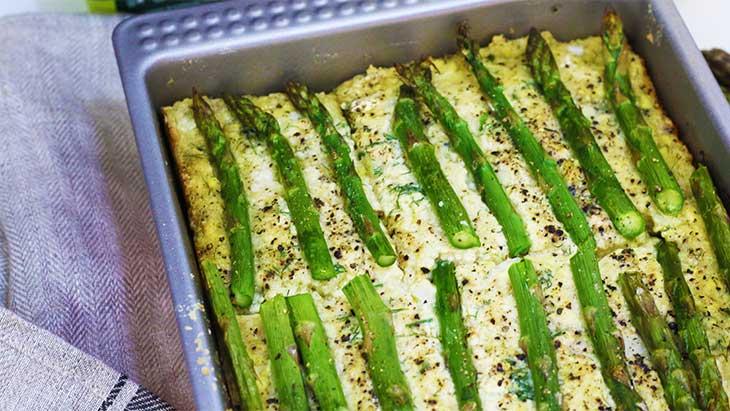 Vegan Crustless Asparagus Quiche cu-asparagus