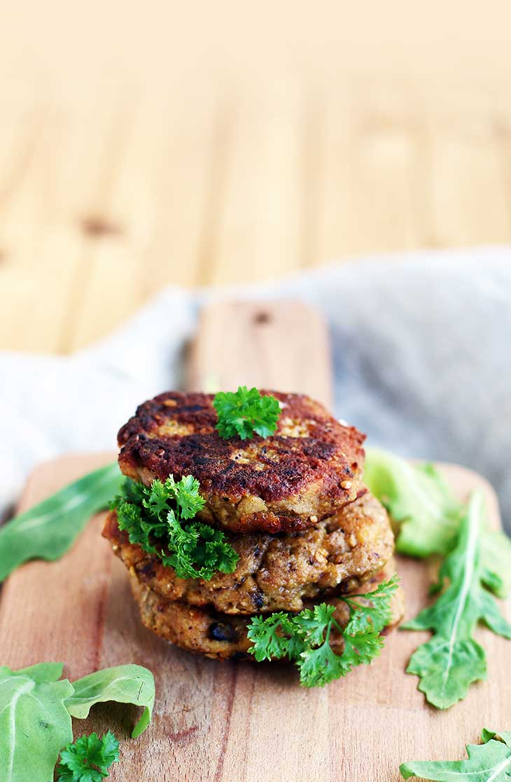 eggplant fritters-with-mushrooms-vegan-recipe-chiftele-de-vinete-cu-ciuperci