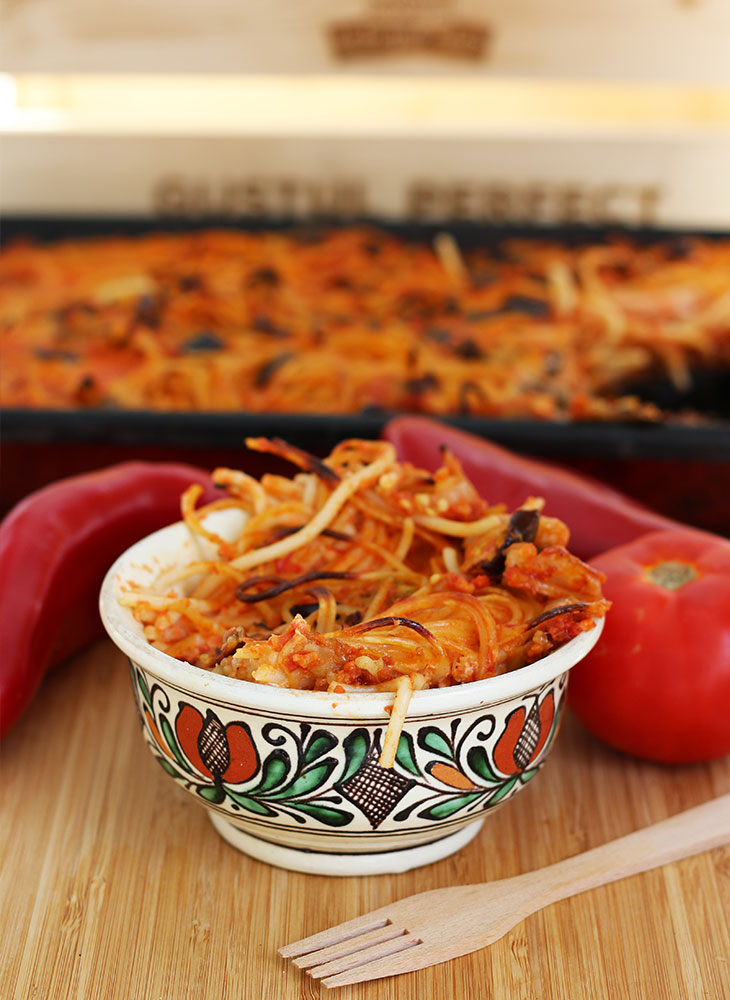 Tomato Pasta Bake-Vegetarian-Paste-la-cuptor-cu-rosii