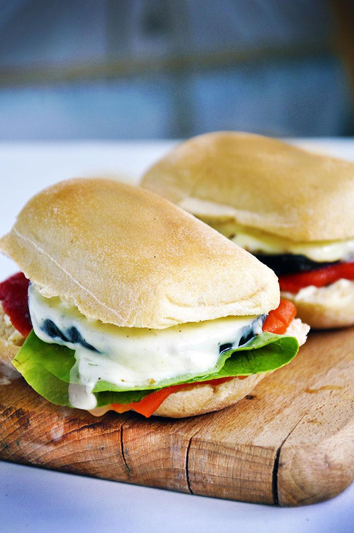Grilled Eggplant Sandwich   Gourmandelle   Vegetarian Blog